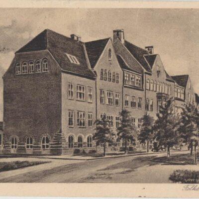 Umeå. Folkskolan 2066 Poststämplat 1932-11-13 Ägare: Ivar Söderlind 9x14