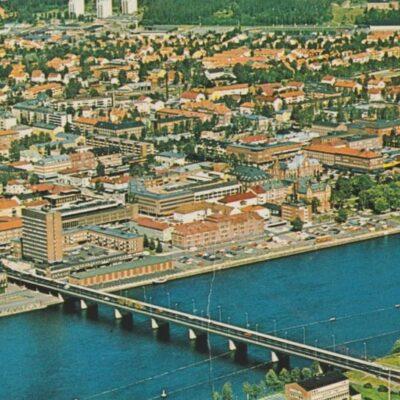 Umeå. Flygfoto Förlag: K. Rune Lundström AB, Skellefteå Ocirkulerat Ägare: Åke Runnman 10x15