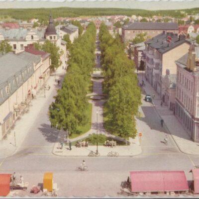 Umeå. Torget med Rådhusesplanaden Pressbyrån Ocirkulerat Ägare: Åke Runnman 10x15
