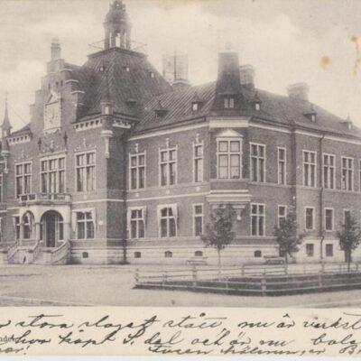 Rådhuset. Umeå H. Glas' Pappershandel Poststämplat 1903-01-03 Ägare: Ivar Söderlind 9x14