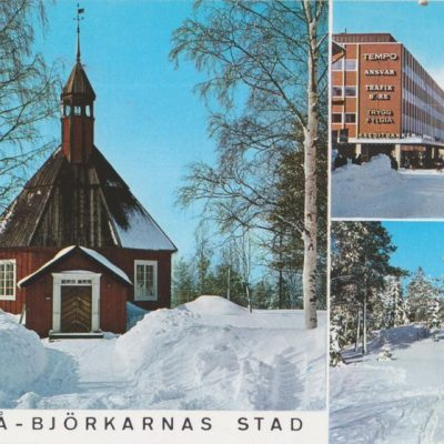 UMEÅ -BJÖRKARNAS STAD EEE A/B Johanneshov Poststämplat 1968-01-18 Ägare: Åke Runnman 10x15