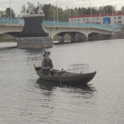 En inbiten fiskare Foto: Sten Troberg, Lycksele Poststämplat 7/6 2006 Ägare: Åke Runnman 10x15