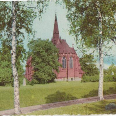 Umeå. Kyrkan Pressbyrån Poststämplat 1957-06-10 Ägare: Ivar Söderlind 10x15