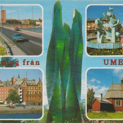 Hälsning från Umeå Förlag: K. Rune Lundström AB, Skellefteå Poststämplat 1990-09-24 Ägare: Ivar Söderlind 10x15