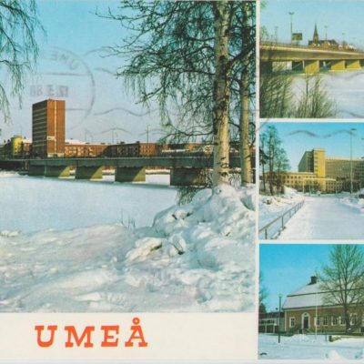 UMEÅ Hallens reklamtryck Poststämplat 1988-03-17 Ägare: Ivar Söderlind 10x15