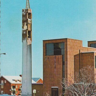 Tegs kyrka i vinterskrud Förlag: Sandbergs Papper, Umeå Poststämplat 1979-03-20 Ägare: Ivar Söderlind 10x15