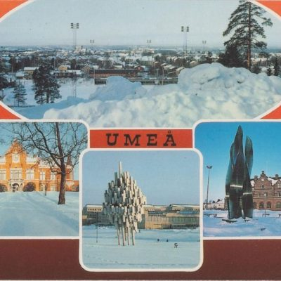 UMEÅ Hallens reklamtryck Poststämplat 1995-04-10 Ägare: Ivar Söderlind 10x15