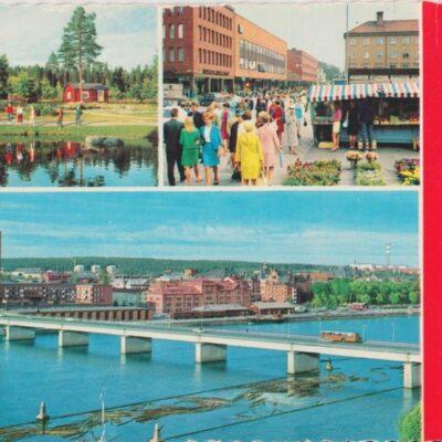 Hälsning från UMEÅ Färgfoto: Giovanni Trimboli Poststämplat 1972-07-17 Ägare: Ivar Söderlind 10x15