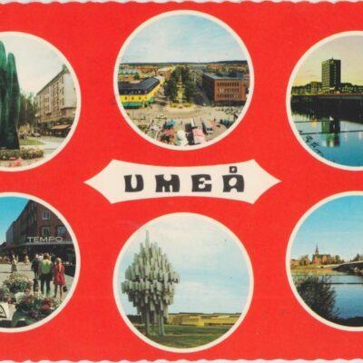 UMEÅ Färgfoto: Giovanni Trimboli Poststämplat 1976-08-15 Ägare: Ivar Söderlind 10x15
