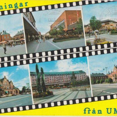 Hälsningar från UMEÅ Förlag: K. Rune Lundström AB, Skellefteå Poststämpel oläslig Ägare: Ivar Söderlind 10x15