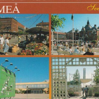 UMEÅ Sverige Förlag: K. Rune Lundström AB, Skellefteå Poststämplat 1990-07-16 Ägare: Ivar Söderlind 10x15