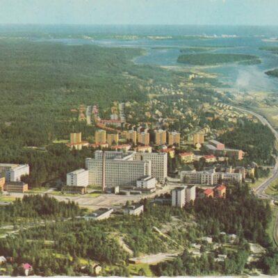 Umeå. Lasarettet Copyright: Sven Hörnell, Riksgränsen, Sweden Poststämplat 1966-06-29 Ägare: Åke Runnman 10x15