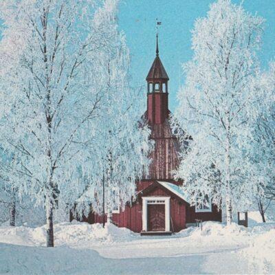UMEÅ. GAMMLIA. Kyrkan HELENA ELISABETH Hallens Reklamtryck Poststämplat 1979-03-21 Ägare: Åke Runnman 10x15