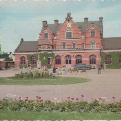 Umeå. Järnvägsstationen Pressbyrån Poststämplat 1960-06-15 Ägare: Åke Runnman 10x15