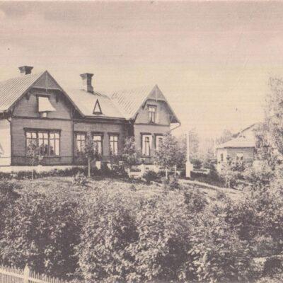 Holmsunds villa, Lycksele Poststämplat 20/12 1908 Ägare: Ivar Söderlind 9x14