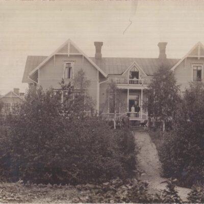Holmsunds villa. Lycksele Poststämplat  22/12 1914 Ägare: Ivar Söderlind 9x14