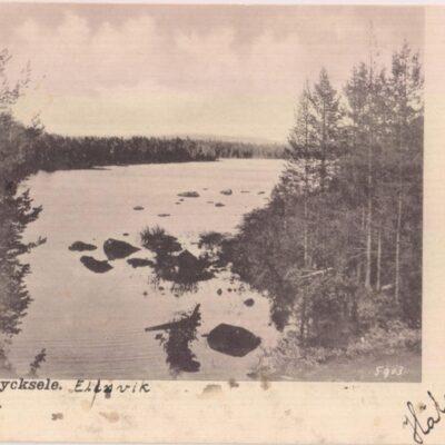 Ume elf vid Lycksele Ida Lindahls Bokhandel Poststämplat 23/? ????
