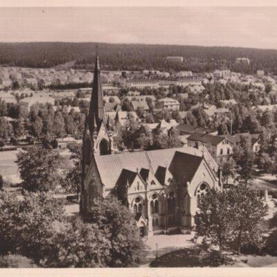 UMEÅ. Kyrkan Pressbyrån 60321 Poststämplat 27/6 1949 Ägare: Ivar Söderlind 9x14