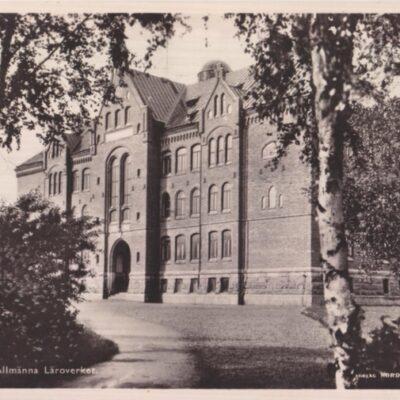 Umeå. Högre Allmänna Läroverket Förlag NORDISK KONST Stockholm 6002/102 Poststämplat 27/3 1937 Ägare: Ivar Söderlind 9x14
