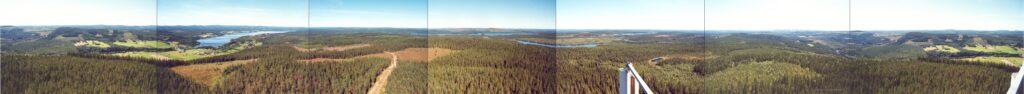 Panorama över Örträsk