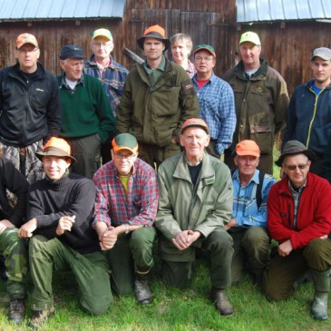 Bild på Mats Jonssons jaktlag