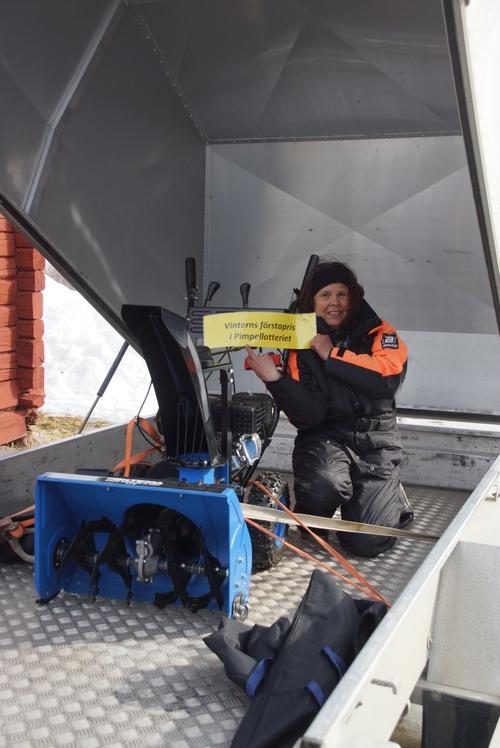 Ally Olsson, Umeå, vann snöslungan från Biltema