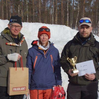 Östen Jonsson, Minsta fisk, Annika Jonson, Bästa dam, och Dirk Utz, totalsegrare