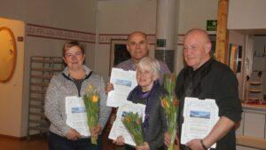 Från vänster - Rose-Marie Thorén, Olle Svensson, Agneta Höglund och Åke Runnman