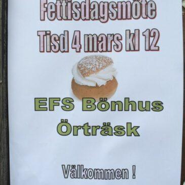 Fettisdagsmöte på EFS