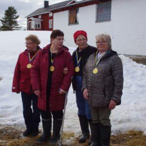Segrarna i Äldre Damveteraner från Värmland Birgitta Kullberg, Karin Nyman,  Birgitta Engström, Marianne Sundin