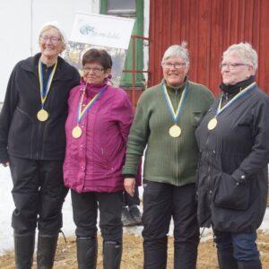 Segrarna i Damveteran från Jämtland/Härjedalen Siv Gidhammar, Ellen Jonsson, Gunnbritt Magnusson, Ellenor Johansson
