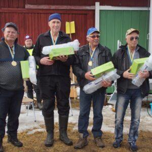 Segrarna i Herrveteran från Jämtland/Härjedalen Hans Magnusson, Allan Gunnarsson, Ulf Fransson, Dan Eriksson