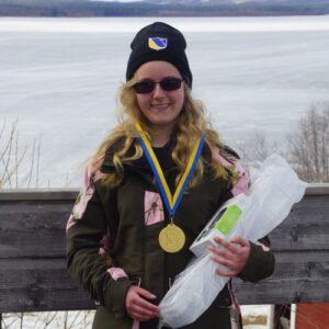 Anja Larsson, Överkalix SFK, blev bäst bland yngre damjuniorer