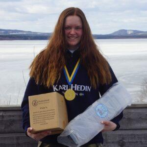 Anna Mattsson, Ovansiljans SFK, vann bland äldre damjuniorer