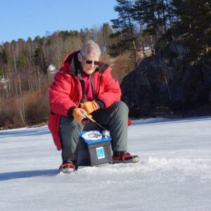 Barbro Lundquist, Ljusna, fick nöja sig med det fina vädret Hon fick inte ett napp på hela tiden