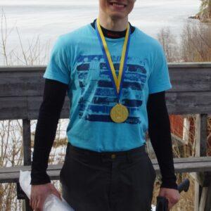 Cavid Öman från Täby PF segrade i äldre herrjuniorer