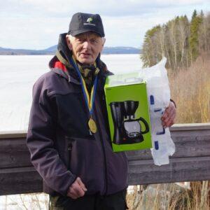 Levi Olsson, Skellefteå SFK, segrade i äldre herrveteran