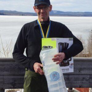 Nils Ekbom, NGF, vann i herrveteran
