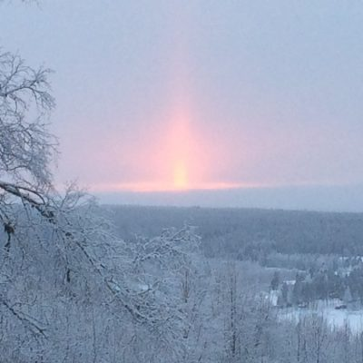 2015-01-24 Omkring 15 minusgrader men solen jobbar med att få visa sig. Foto: Åke Runnman