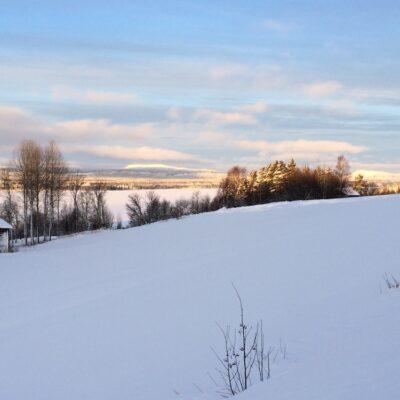 2015-02-08 En underbar vintermorgon med Stöttingfjället i bakgrunden Foto: Åke Runnman
