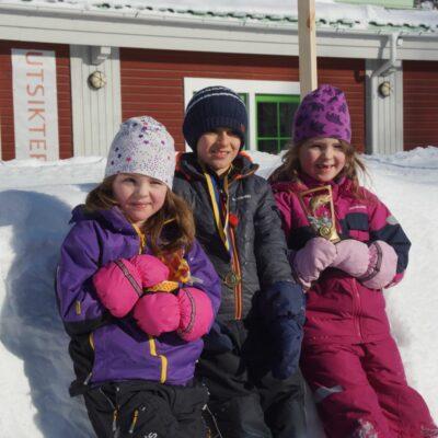 Saga Båtsman, Sean Yussef och Engla Båtsman stolta pristagare i barnklassen