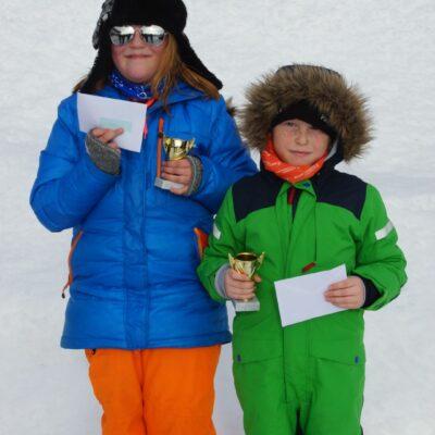 Gisela Rimmevik, segrade i ungdomsklassen och brorsan Casper som vann barnklassen