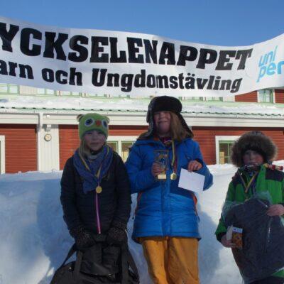 Felicia Lindgren, Gisela Rimmevik och Casper Rimmevik fick flest fiskar i ungdomsklassen