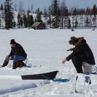 Christer Johansson och Karl-Göran Svalberg lyckades få upp några fiskar