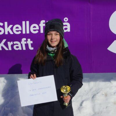 Ungdomsklassen vanns av Tilde Hägglund från Umeå med 156 gram