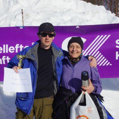 Joacim Backman, segrare i vuxenklassen och Ewa Stuge, som blev bästa dam med sin andraplats