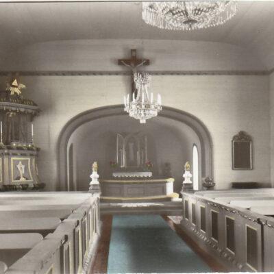 Fredrika kyrka. Foto & Ensamrätt: A/B Almquist & Cöster, Hälsingborg. Poststämplat 31/12 1966. Ägare: Åke Runnman. 9x14
