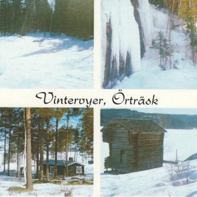 Vintervyer, Örträsk. Foto: Siri Löfgren, V:a Örträsk. Poststämplat 7/2 1994. Ägare: Åke Runnman. 10x15