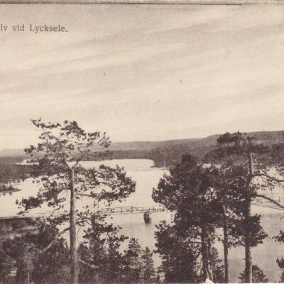 Ume älv vid Lycksele Förlag: Gunnar Grahn Foto J. E Nahlin Ocirkulerat Ägare: Åke Runnman 9x14