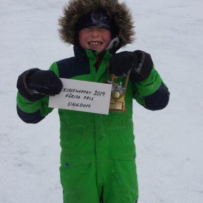 Casper Rimmevik, Lycksele, som segrade i ungdomsklassen med 1041 gram